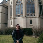Myself in back of the Cathedral Basilica