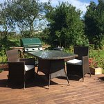 Outdoor BBQ areas for guests to enjoy