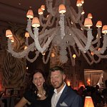 Love the seashell chandelier in the center of the restaurant.