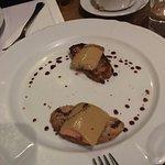 Amazing foie gras toast (half eaten already)