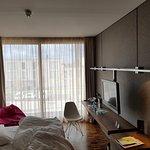 Unser Zimmer mit Doppelbett (mit elektrisch einstellbarem Härtegrad der Matratzen)