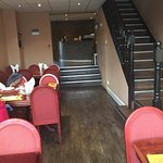 The downstairs portion of the restaurant. Very large and roomy seating