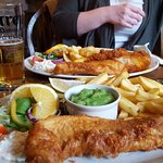 Whitby cod and chips