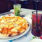"""пицца """"Полло"""" и безалкогольные мохито"""