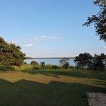 Across the lagoon