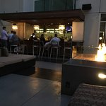 W Hotel Hollywood Outdoor Bar area in the evening