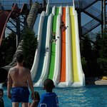 4 of the adult slides in water park