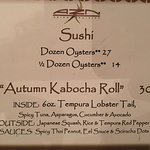 """This is an example of part of a """"special"""" menu"""