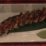 """This is the """"Autumn Kabocha Roll"""" from the special menu"""