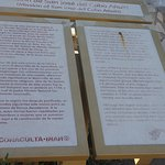 info sign about the Church