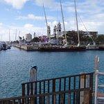 Near the cruise ship dock