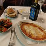 Monday nights don't get any better!  Cannelloni what a treat! Washed down with a full bodied red