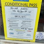 Conditional Pass - november 2016