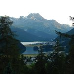 A view from my room toward St. Moritz and the lake.