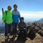¡Con mis hijos en la cumbre del Nevado de Colima!