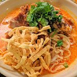 Fried Duck Panang Curry w/ Egg Noodle