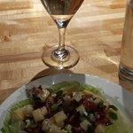 Wedge salad with Chardonnay