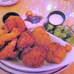 Seafood platter, O'Hollerans, Brookings, Oregon