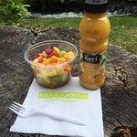Fruit Salad & Orange Juice! Delicious :)