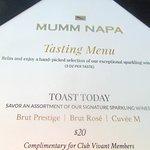 Tasting Menu, Mumm, Rutherford, CA