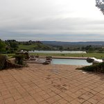 Beautiful weather with Heated Pool in the front and dam at the back