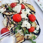 Grilled eggplant with fetta