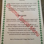 Our fantastic Christmas Chefs special menu available through out December 🎄