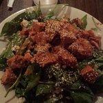 Bombay Chickpea Salad with tandoori chicken