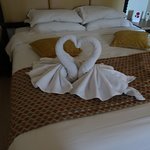 Towel sculpture to note our wedding Anniversary