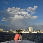Rainbow sighting! Our favorite spot onboard!