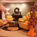 Hotel Lobby, with Thanksgiving Balloons!