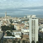 View of Casablanca from my room - you can see Hasan II mosque in the distance