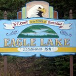 Eagle Lake is remote. It is a pleasure to see this sign.