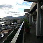 terraza del restaurante, hacia el puerto