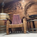 A snippet of our wine barrel furniture in store. All made on site in our workshop.