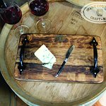 A rustic platter crafted from Wine Barrel Oak.