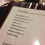Thoughtful wine list