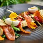 House smoked salmon salad