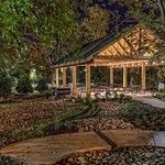Cedar wood pavilion and picnic area.
