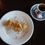Baklava and Turkish delight with my coffee.