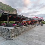 Slik ser den nyoppussa uterestauranten på Isehaug Kafeteria ut :)