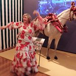 Posing in Flamenco costume