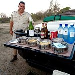 Morne's spread! Treat on evening game drive