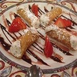 Cannoli for dessert! $7 for four mini ones, delicious!