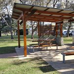 Park opposite with FREE BBQ facilities