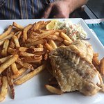 Grilled Halibut Dinner, Fish Tales Cafe, 3336 Island Hwy W, Qualicum Beach, British Columbia