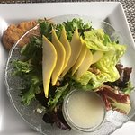 Salad and chicken, Fish Tales Cafe, 3336 Island Hwy W, Qualicum Beach, British Columbia