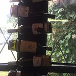 Cool wine rack, Fish Tales Cafe, 3336 Island Hwy W, Qualicum Beach, British Columbia