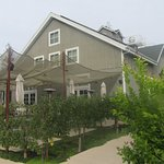 Restaurant and Fruit Trees, , Long Meadow Ranch Winery, St. Helena, Ca