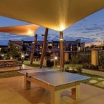 Lighted Outdoor Ping Pong Table and Billiard Table